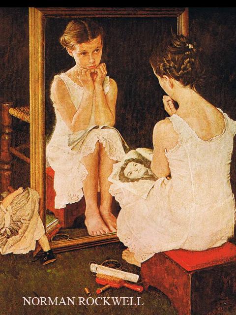 Donne allo specchio meeting benches - Ragazza davanti allo specchio ...