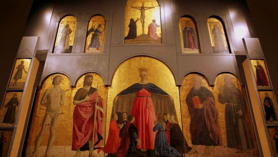 Risultato immagini per (Resurrezione il Polittico della Misericordia il San Ludovico e il San Giuliano)